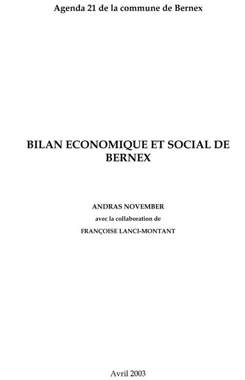 Bernex-2003-Bilan-Socioeco-couv