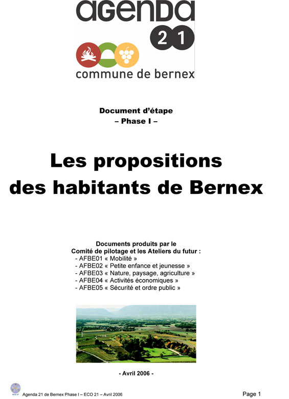 Bernex-2006-Propositions-Etape-1-couv