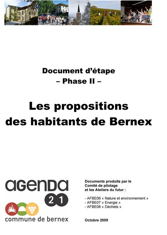 Bernex-2009-Propositions-Etape-2-couv